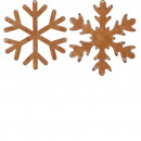 Metal snowflake, for hanging, 2 motives, D20cm,